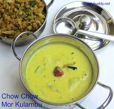 chow chow mor kulambu recipe / Buttermilk Curry is a easy instant south Indian kuzhambu. Serve with potato masiyal & rice. Even beginner / bachelor can try. Jain Recipes, Recipes In Tamil, Veg Recipes, Curry Recipes, Indian Food Recipes, Vegetarian Recipes, Cooking Recipes, Healthy Recipes, Delicious Recipes