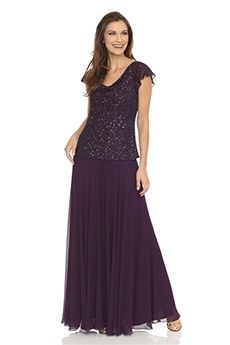 A-Line/Princess Cowl Ankle-length Chiffon Mother of the Bride Dress
