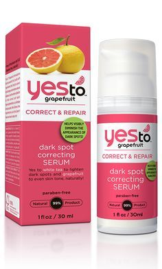 Yes to Grapefruit Dark Spot Correcting Serum is a power-charged serum clinically proven to help visibly diminish the appearance of dark spots in four weeks!
