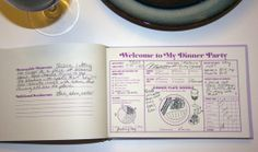Our Dinner Party Guest Book allows your guests to document the success of your latest shindig!