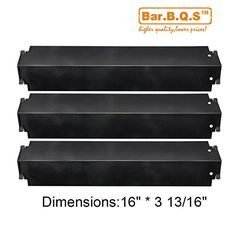Bar.b.q.s BBQ 93321 (3-pack) Porcelain Steel Heat Plate Replacement for Select Gas Grill Models, Charbroil, Kenmore Sears, Thermos, Lowes Model Grills and Others