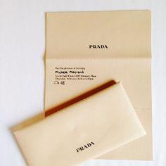 Prada AW15 invitations