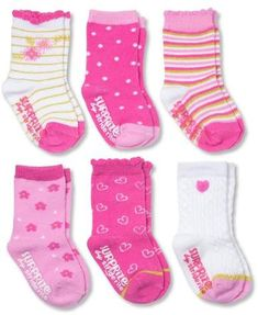 Surprize by Stride Rite Baby Girls' Super Pink Crew Gripper Socks  #babygirl, #promotion