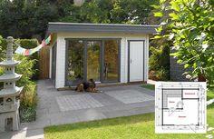 Gartenhaus mit Sauna und Geräteraum