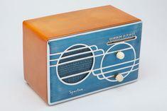 1939 Art Deco Sparton 500C Blue Cloisonné Radio with Catalin Cabinet