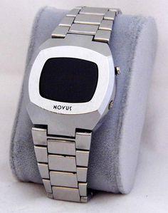 Vintage Novus Red LED Wrist Watch, Circa 1970s.