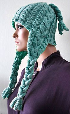 Cuddles Braided Earflap Hat pattern by Cathy Campbell