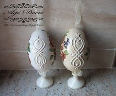 Ági Decor'ates...: Rosy decoupage eggs...