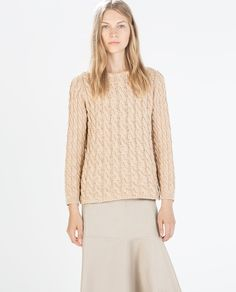 Image 2 of CABLE STITCH JERSEY from Zara