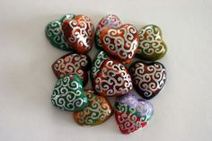Heart Shaped Plaster Magnets