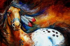 Spirit Indian Warrior Pony Painting by Marcia Baldwin - Spirit Indian Warrior Pony Fine Art Prints and Posters for Sale