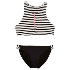 78745f6890ff7 Buy Seafolly Tropical Splice Zip Front Tankini, Black/White Online at  johnlewis.com