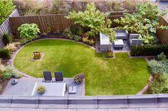 Garden design-natural-and-tight-Apeldoorn-by-Hovenier-BK-Tuinen.jpg 800 533 p Hagedesign-naturlig-og-tett-Apeldoorn-by-Hovenier-BK-Tuinen.jpg 800 533 s Rectangle Garden Design, Back Garden Design, Garden Design Plans, Japanese Garden Design, Backyard Garden Design, Backyard Layout, Backyard Plan, Patio Design, Backyard Designs