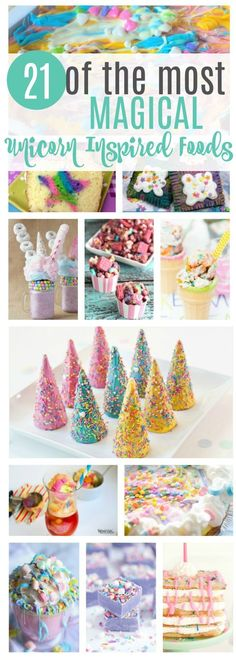 Unicorns are all the rage right now. Check out these magical unicorn inspired foods that are super easy and fun to make!