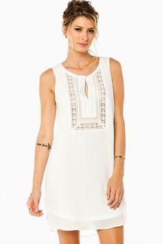 Naima Tank Dress in Off White