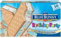 Blue Bunny Birthday Party Ice Cream Sandwiches Are Insanely Good I Dont Like Cake Much But LOVE From Any Brand And