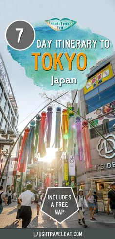 Travel Tips - Tokyo is so full of activities that it's hard to decide on an itinerary. But if you like eating, shopping, hiking, here's a 7 day itinerary Japan Travel Guide, Asia Travel, Travel Guides, Tokyo Travel, Beach Travel, Kyoto, Disneyland, Tokyo Japan, Japan Trip