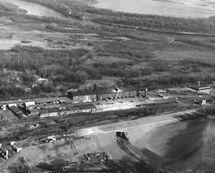 Red Wing Pottery, 1940. Looks like they were just starting to build the highway.  : Minnesota Historical Society