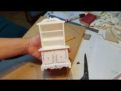 Miniature Dollhouse Hutch - YouTube