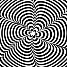 Moving Black and White Illusion - http://www.moillusions.com/moving-black-and-white-illusion/