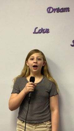 This young lady is practicing her performance using a microphone. We have found that the kids love using the sound equipment when working through their material. Learn Singing, Kids Singing, Singing Tips, Music Mood, Mood Songs, Cool Music Videos, Good Music, Music Sing, Reggae Music