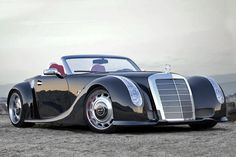 GWA 300 SLC based on 2012 Mercedes Benz SLS Roadster with 1955 300 SC body