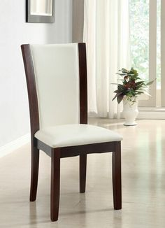 Furniture of America Set of 2 Manhattan Side Chair at Lowe's. The Waverly contemporary side chair by Furniture of America is a minimalist designer, the arched padded seat back relieve your soreness when your rest on White Dining Chairs, Upholstered Dining Chairs, Dining Chair Set, Dining Room Chairs, Side Chairs, Chair Upholstery, Dining Table, Dining Sets, Small Dining