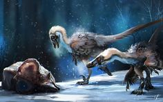Velociraptors, Ramon Acedo on ArtStation at https://www.artstation.com/artwork/velociraptors-73c669c2-2a3b-4547-a44a-6f9bd65eae3c