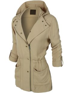 LE3NO Womens Lightweight Zip Up Anorak Jacket with Drawstring Waist haley would look great in this