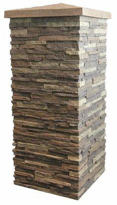 NextStone 16″ Stone Column Wrap Carolina Cocoa