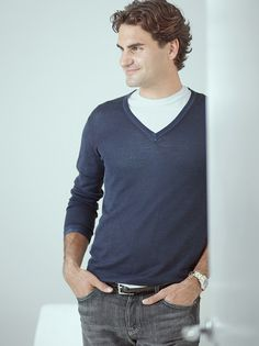 Roger Federer. He makes tennis more bearable to watch.
