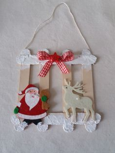 Learn how to make Easy Christmas Crafts for Kids with these amazing Popsicle Stick Christmas Ornaments. Christmas Paper Chains, Easy Christmas Ornaments, Handmade Christmas Gifts, Simple Christmas, Christmas Decorations, Preschool Christmas Crafts, Christmas Crafts For Kids To Make, Spring Crafts, Kids Christmas