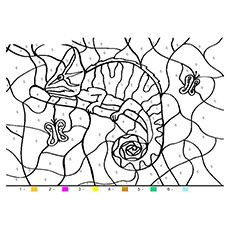 The Coiled Smiling Chameleon Coloring Page Curious George Coloring Pages Tree Coloring Page Squirrel Coloring Page