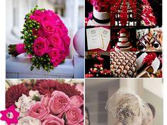 Decoración de boda color fucsia
