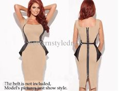 Wholesale Womens Dresses - Buy Sexy Patchwork Bodycon Shift Wiggle Tunic Business Zipper Sheath Womens Vintage Rockabilly Fitted Pencil Shift Midi Dresses, $16.62   DHgate