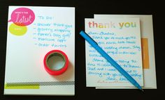 DIY: Learn how to write the perfect 'Thank-you' notes. Here is the Tiny Prints Watercolor Collection Thank You notes that are perfect for any graduation, wedding or party season.