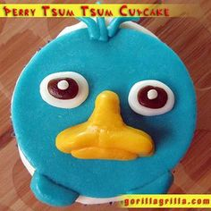 Doobie Doobie Doobah! Perry the Platypus has hit the scene. This Perry Tsum Tsum Cupcake is made with a deliciously moist cherry chip cupcake.