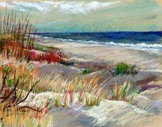 Junko Ono Rothwell:  Ocean at Charleston, Pastel, 13 x 18.jpg