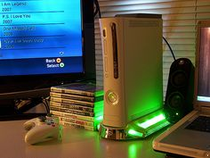 Bought an Xbox 360; used from a buddy off TheRoot42 forums. Loving it so far.   Picked up an Intec Glowing Fan Stand too so it helps cool it, and also looks pretty slick ;).    Games I bought:  Halo 3  Mass Effect  GTA-IV  Call of Duty 4    Games he included  Click on pic now Tips on getting a 95% discount. https://www.quibids.com/en/landing/index.php?c=us=ile=10564=917