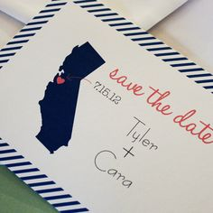 Really cute save the date, with a picture of Indiana of course! Especially meaningful since we'll have so many out of state guests - Georgia, Florida, Virginia, New Jersey, California, Ohio, Illinois...!