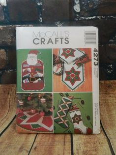 Sew & Make McCall's 4273 SEWING PATTERN - Christmas Decor TREE SKIRT STOCKINGS #McCalls