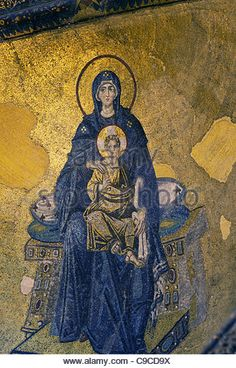 hagia sophia mosaic virgin mary with christ - Yahoo Image Search Results