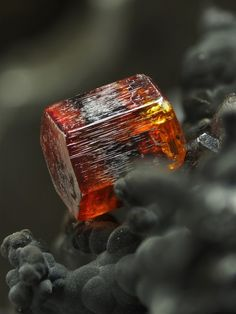 Vanadinite- showing exceptionally gemmy translucency and deep form #pixiecrystals