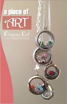 Create your own art with an Origami Owl locket. Shop online http://kristaamoyer.origamiowl.com