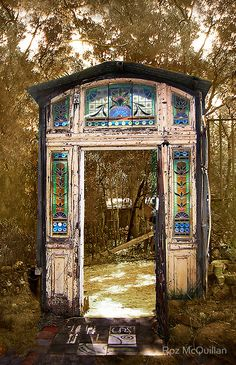Old doors and windows work very well in the garden. If you believe in that sort of thing.