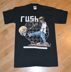 RaRe *1991 RUSH* vintage rock concert tour t-shirt MINT (M) 80's Band Pushead   eBay