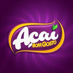Resultado de imagem para açai logo Food Logo Design, Food Packaging Design, Text Design, Label Design, Branding Design, Food Brand Logos, Water Logo, Graphic Design Posters, Typography Logo