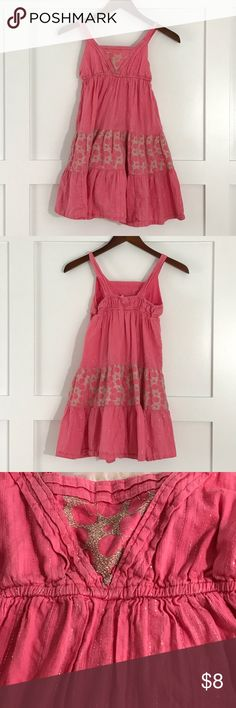 Pink Sundress Silvery threads and designs. Casual cute. Old Navy Dresses Casual