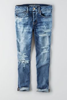 The BEST and most comfortable jeans I ever purchased! AEO Denim X Cafe Tomgirl Jean.