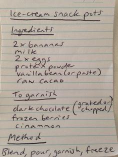 Chocolate ice-cream snack pot or popsicle ADD YOGHURT TO RECIPE